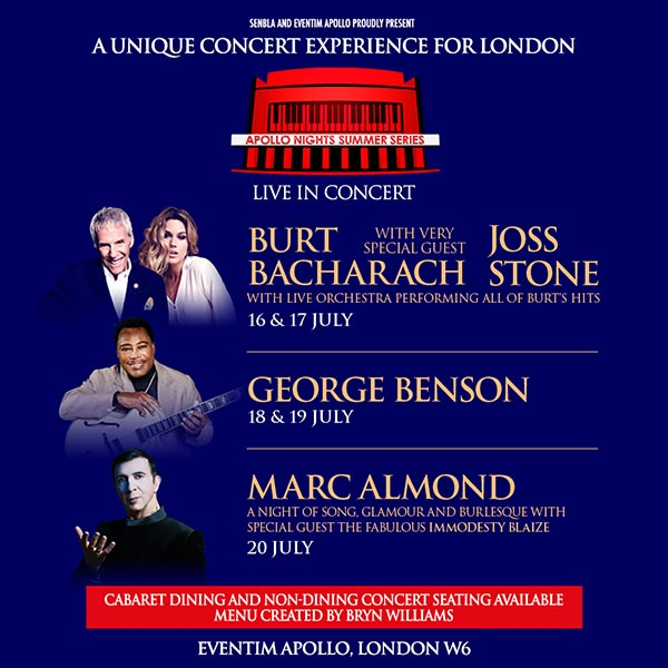 George Benson at Hammersmith Apollo on Thu 18th July 2019 Flyer