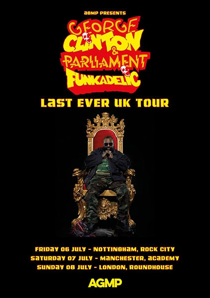 George Clinton & Parliament Funkadelic at The Roundhouse on Sun 8th July 2018 Flyer