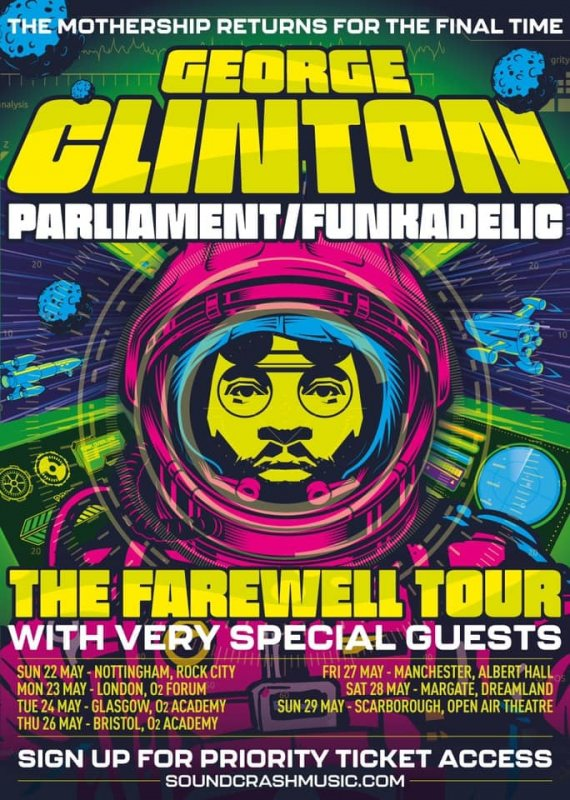 George Clinton at The Forum on Mon 23rd May 2022 Flyer