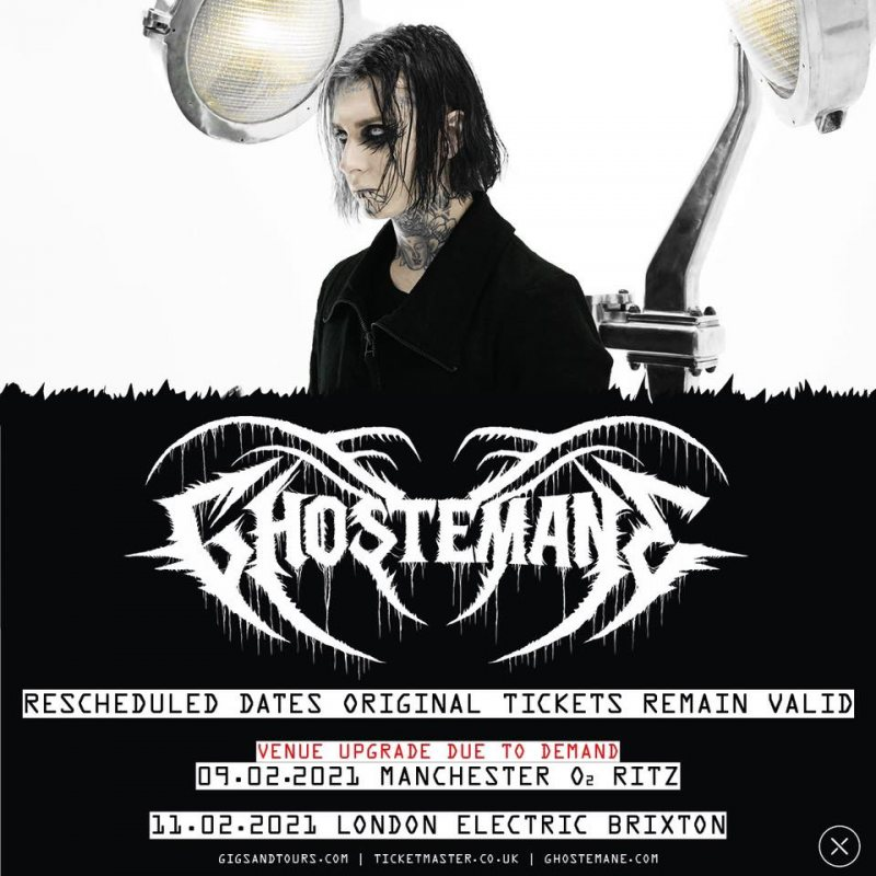 Ghostemane at Electric Brixton on Thu 11th February 2021 Flyer