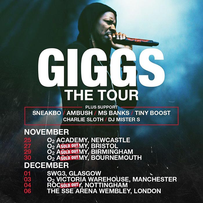 Giggs at Wembley Arena on Fri 6th December 2019 Flyer