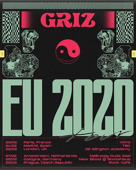 Griz at Islington Academy on Sat 22nd February 2020 Flyer