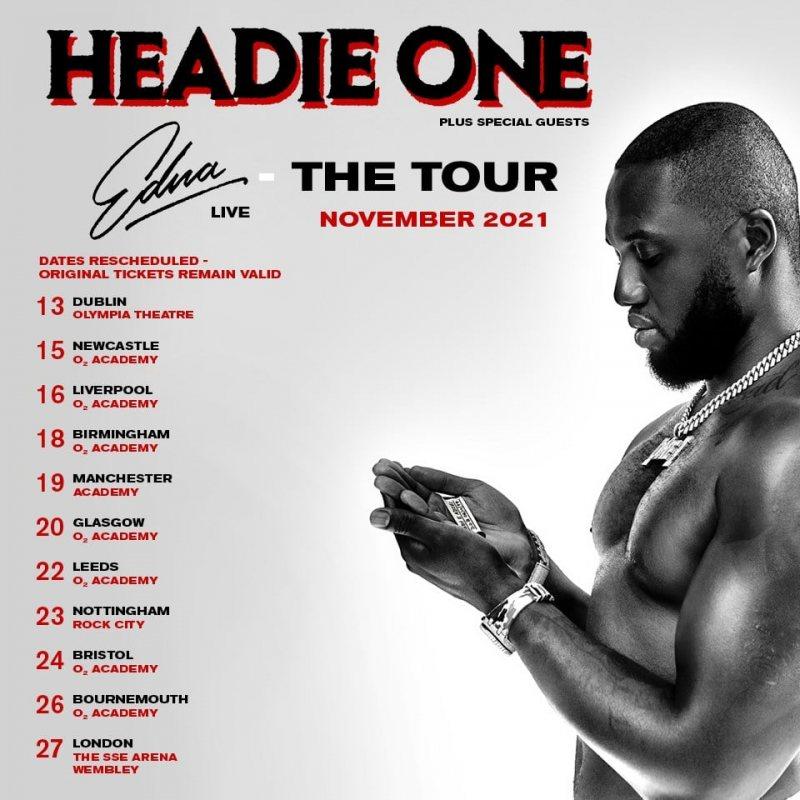Headie One at Wembley Arena on Sat 27th November 2021 Flyer