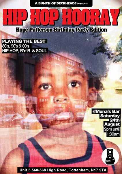 Hip Hop Hooray at Monas Bar on Sat 24th August 2019 Flyer