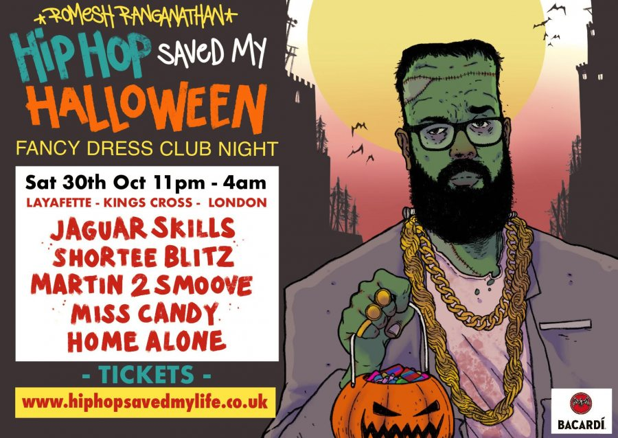 Hip Hop Saved my Halloween at Lafayette on Sat 30th October 2021 Flyer