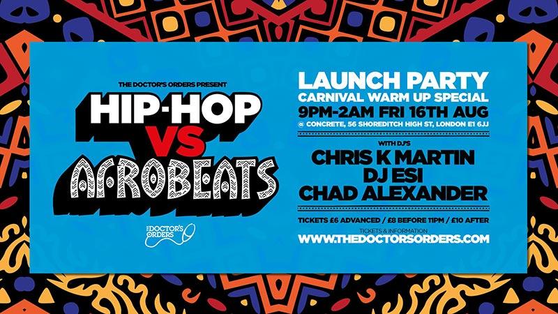 Hip-Hop vs Afrobeats at Concrete on Fri 16th August 2019 Flyer