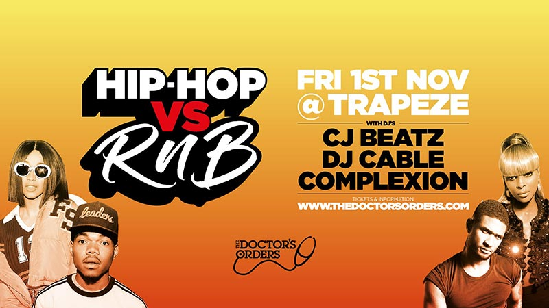 Hip Hop vs RnB at Trapeze on Fri 1st November 2019 Flyer