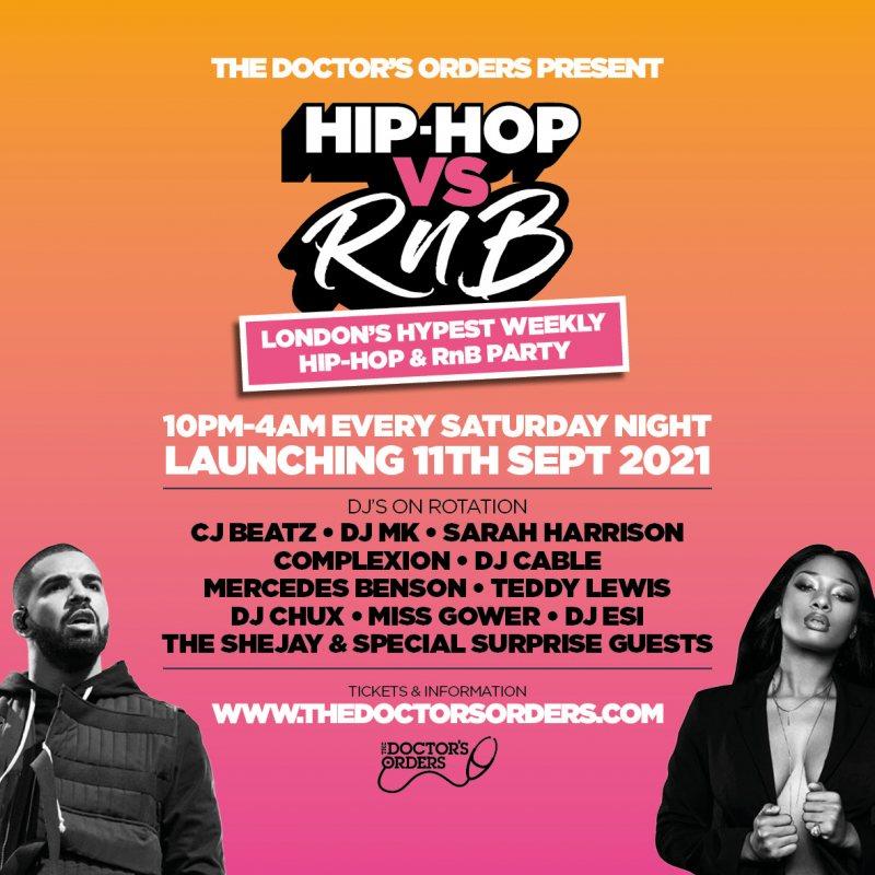 Hip-Hop vs RnB - The Return at Horse & Groom on Sat 11th September 2021 Flyer