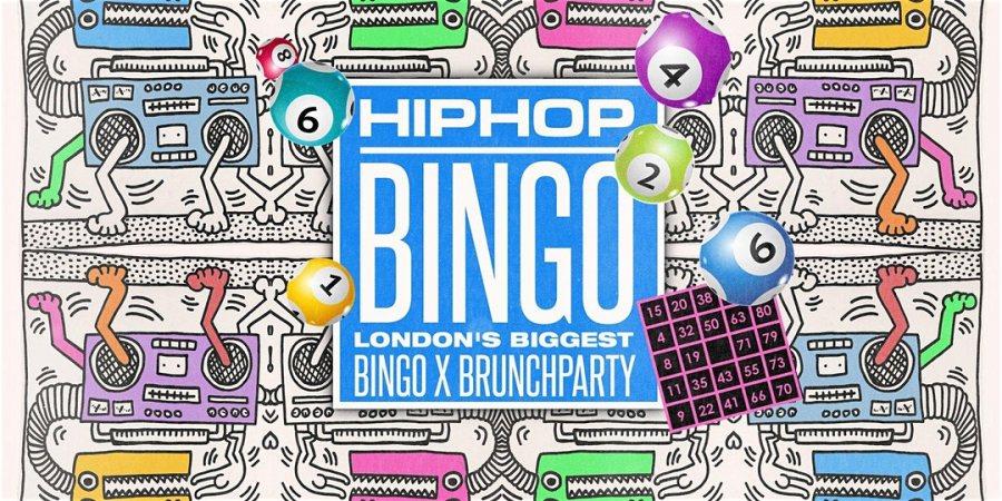 HipHop Bingo x Brunch at Dabbers Social Bingo on Sun 29th March 2020 Flyer