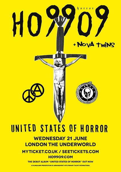 Ho99o9 at Underworld on Wed 21st June 2017 Flyer