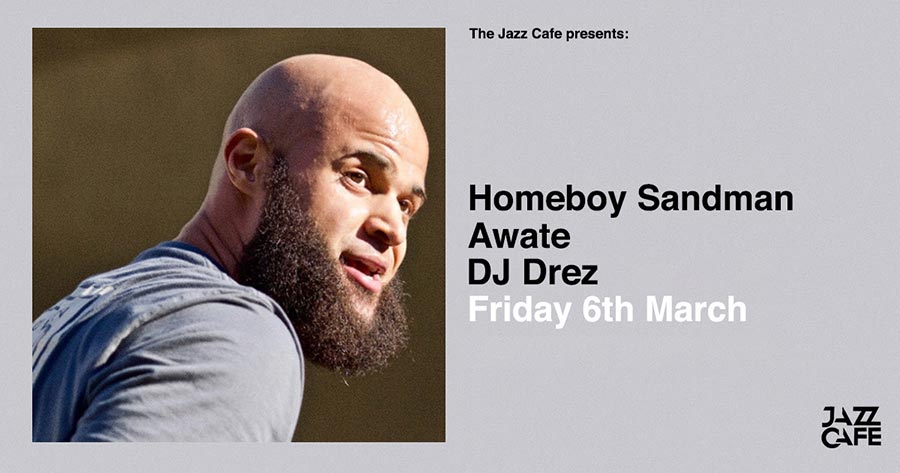Homeboy Sandman at Jazz Cafe on Fri 6th March 2020 Flyer