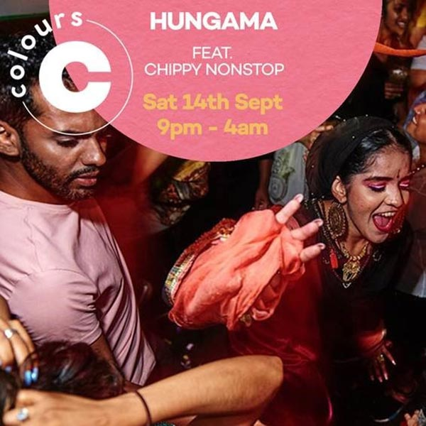 Hungama at Colours Hoxton on Sat 14th September 2019 Flyer