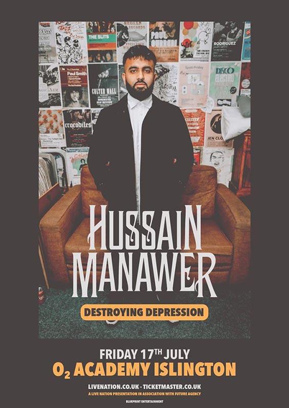 Hussain Manawer at Islington Academy on Fri 17th July 2020 Flyer