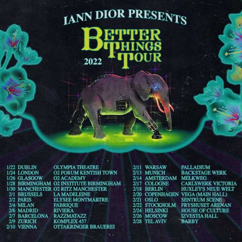Iann Dior at The Forum on Mon 24th January 2022 Flyer