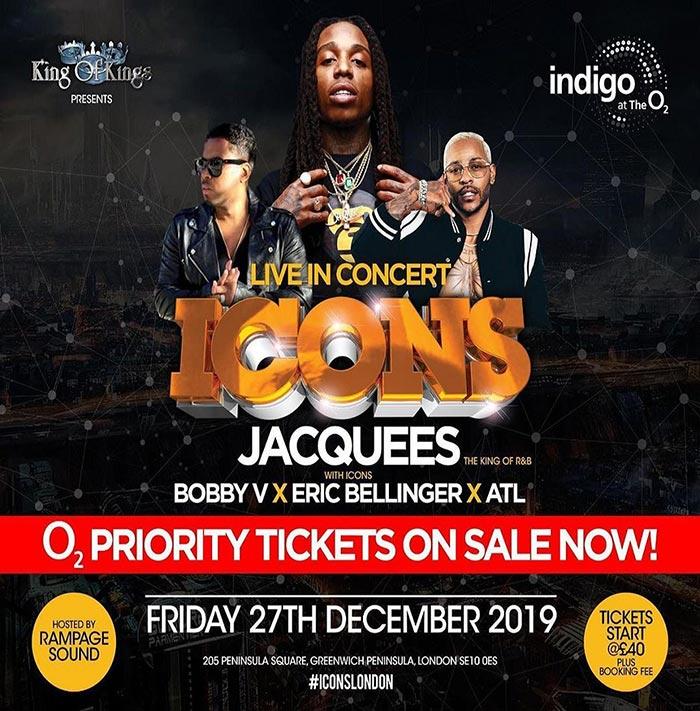 Jacquees at Indigo2 on Fri 27th December 2019 Flyer