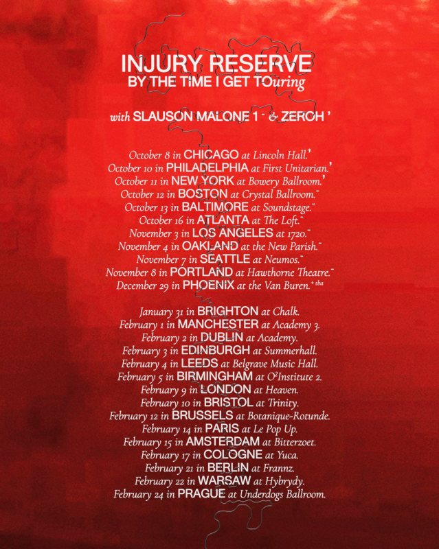 Injury Reserve at The Garage on Wed 9th February 2022 Flyer