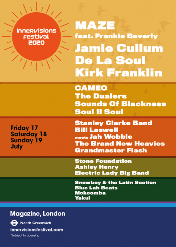 Innervisions Festival 2020 Friday at Greenwich Peninsula on Fri 17th July 2020 Flyer