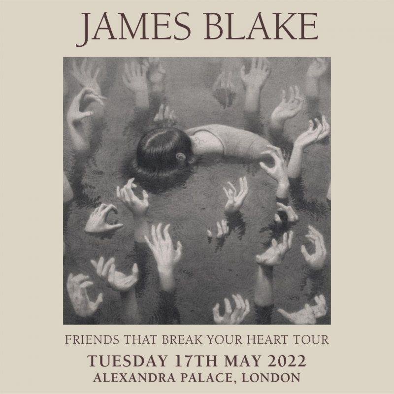 James Blake at Alexandra Palace on Tue 17th May 2022 Flyer