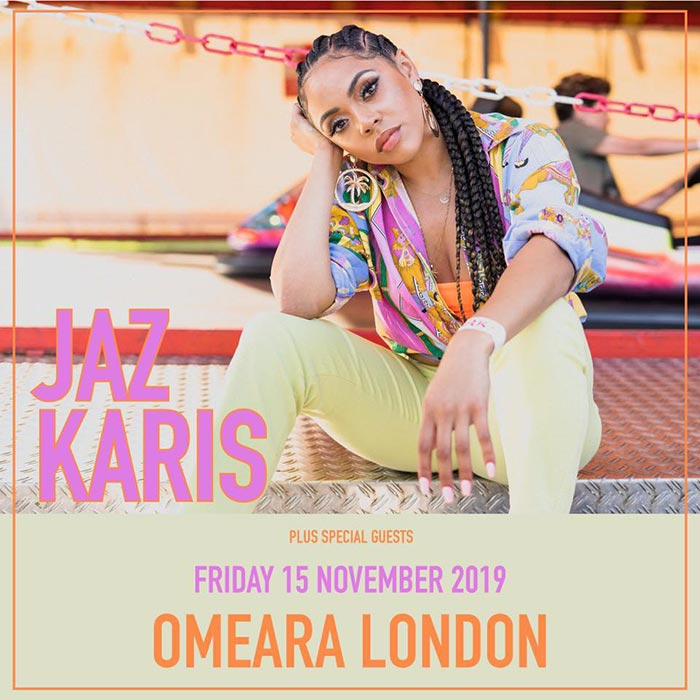 Jaz Karis at Omeara on Fri 15th November 2019 Flyer
