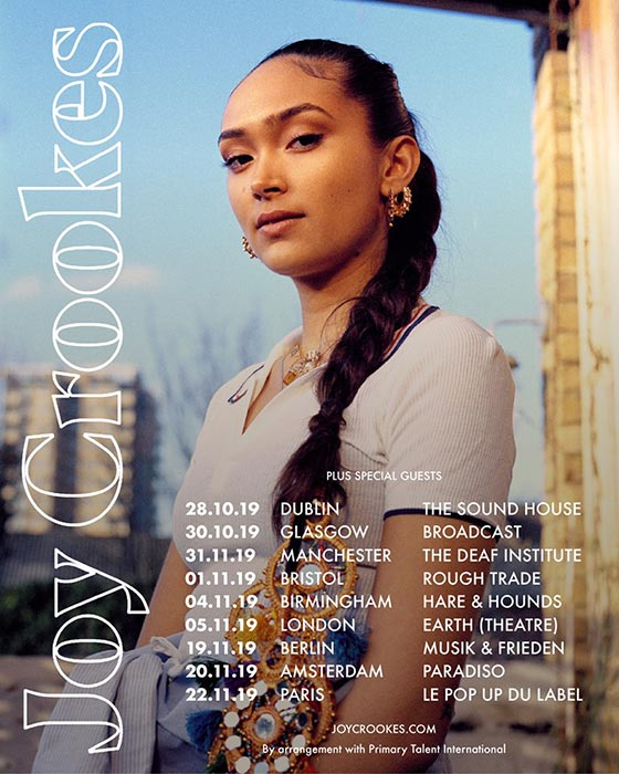 Joy Crookes at EartH on Tue 5th November 2019 Flyer