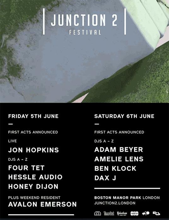 Junction 2 Festival - Friday at Boston Manor Park on Fri 5th June 2020 Flyer