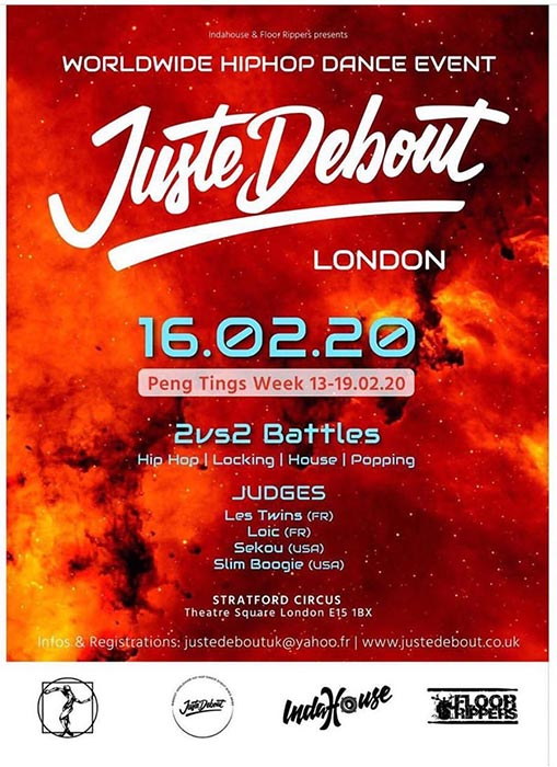 Juste Debout at Stratford Circus Arts Centre on Sun 16th February 2020 Flyer