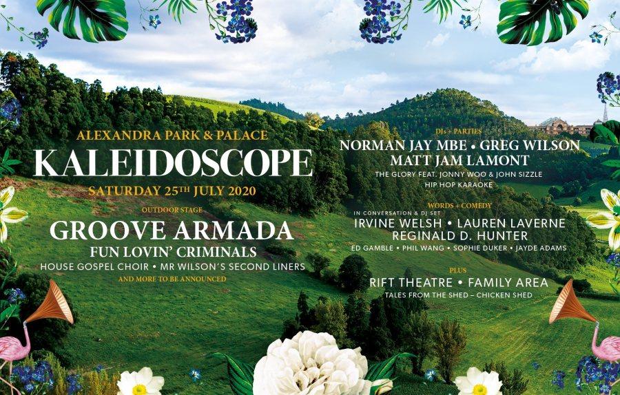 Kaleidoscope Festival 2020 at Alexandra Palace on Sat 25th July 2020 Flyer