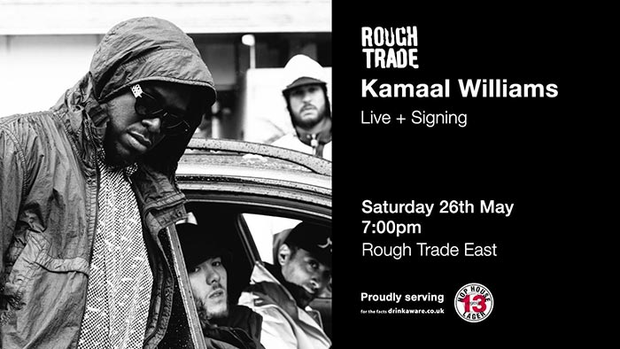 Kamaal Williams - Live + Signing at Rough Trade East on Sat 26th May 2018 Flyer