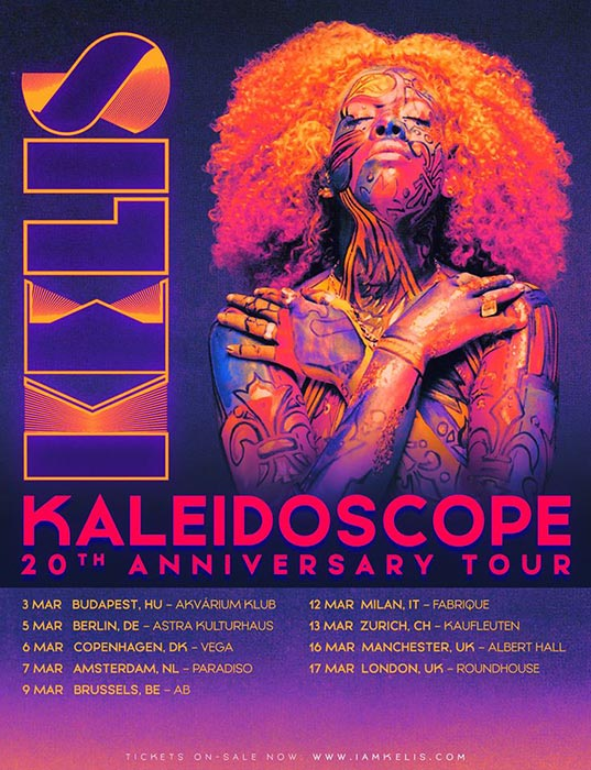 Kelis at The Roundhouse on Tue 17th March 2020 Flyer