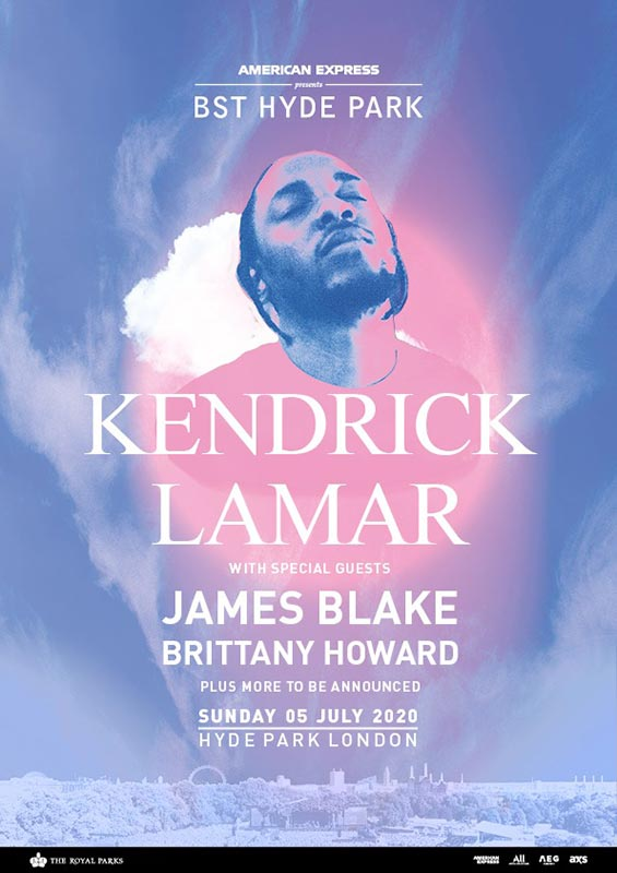 Kendrick Lamar at Hyde Park on Sun 5th July 2020 Flyer