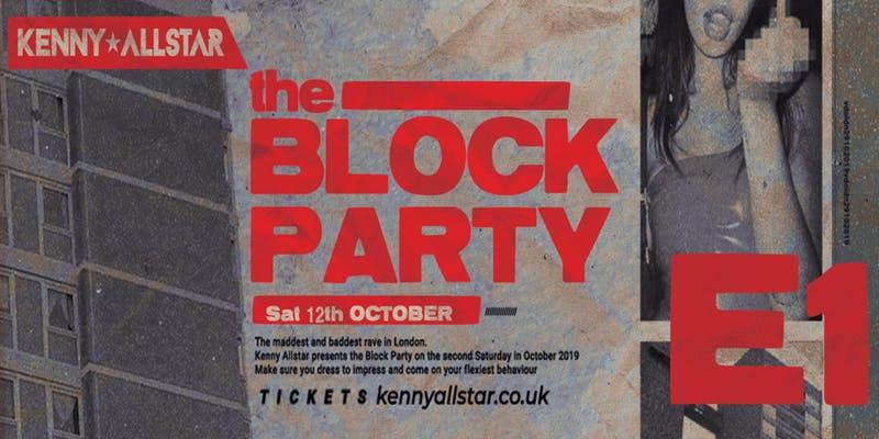 Kenny Allstar  at E1 London on Sat 12th October 2019 Flyer