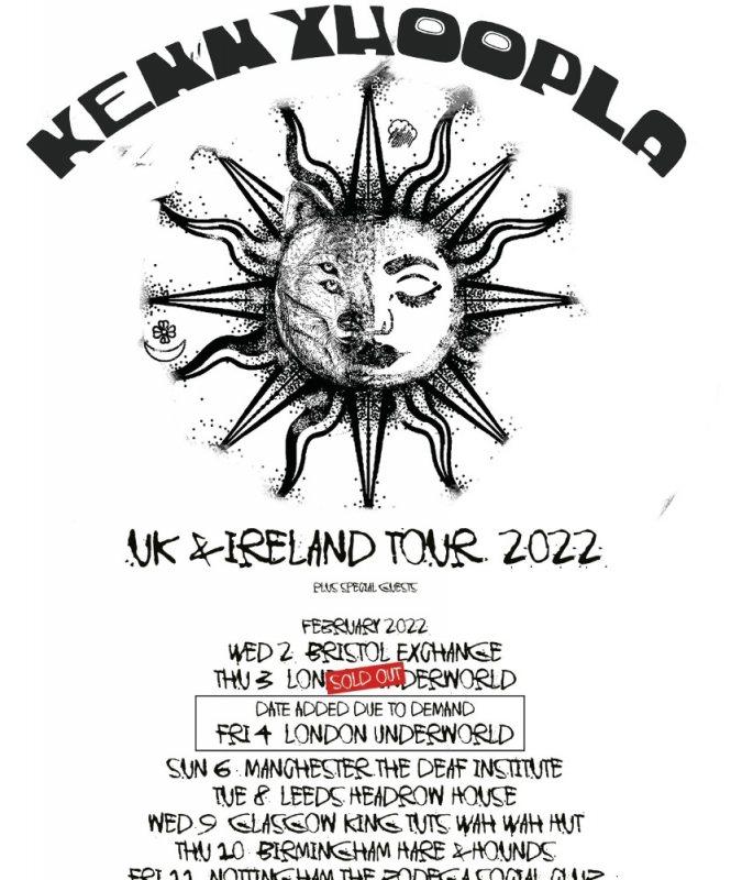 KennyHoopla at Underworld on Thu 3rd February 2022 Flyer