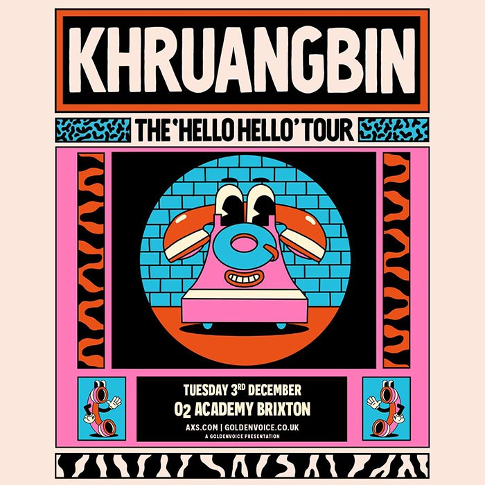Khruangbin at Brixton Academy on Tue 3rd December 2019 Flyer