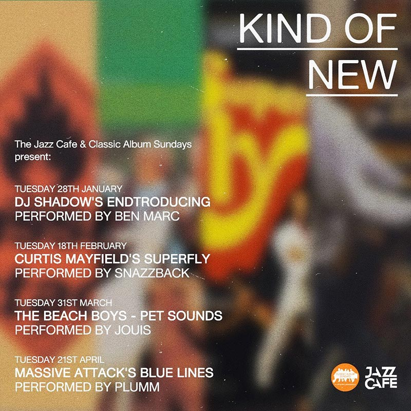 Kind of New at Jazz Cafe on Tue 18th February 2020 Flyer
