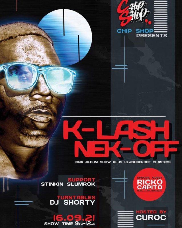 Klashnekoff at Chip Shop BXTN on Thu 16th September 2021 Flyer