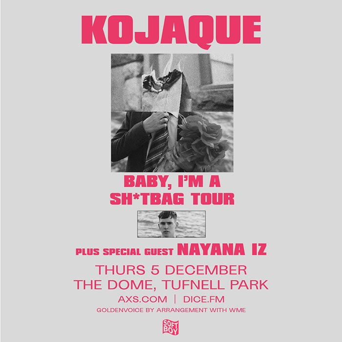 Kojaque at The Dome on Thu 5th December 2019 Flyer