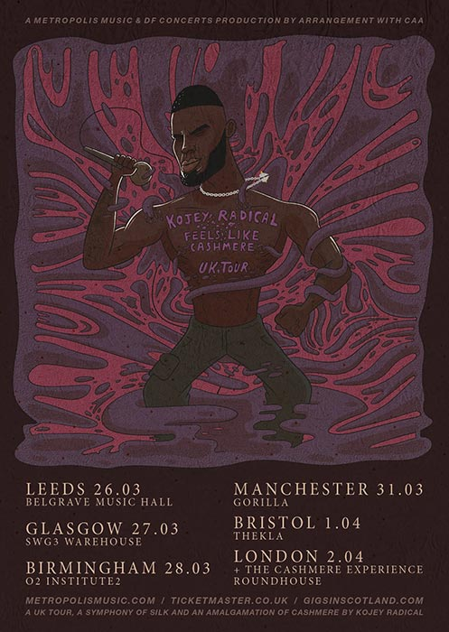 Kojey Radical at The Roundhouse on Thu 2nd April 2020 Flyer