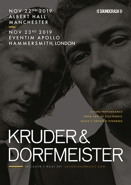 Kruder & Dorfmeister at Hammersmith Apollo on Sat 23rd November 2019 Flyer
