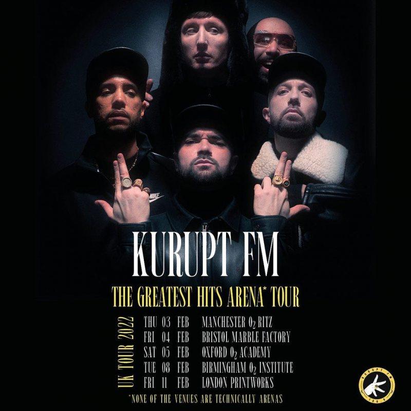 Kurupt FM at Printworks on Fri 11th February 2022 Flyer