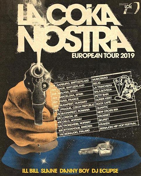 La Coka Nostra at New Cross Inn on Tue 3rd September 2019 Flyer
