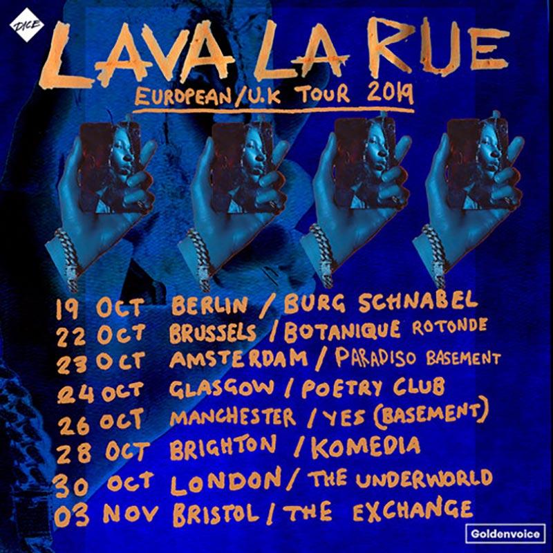 Lava La Rue at Underworld on Wed 30th October 2019 Flyer