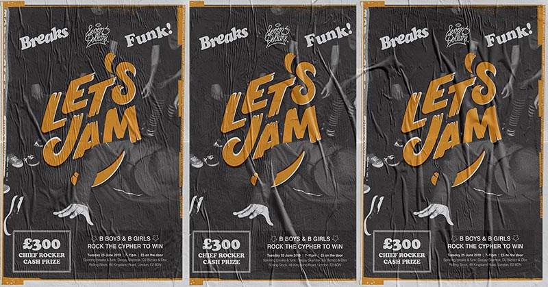 Let's Jam at Rolling Stock on Tue 25th June 2019 Flyer