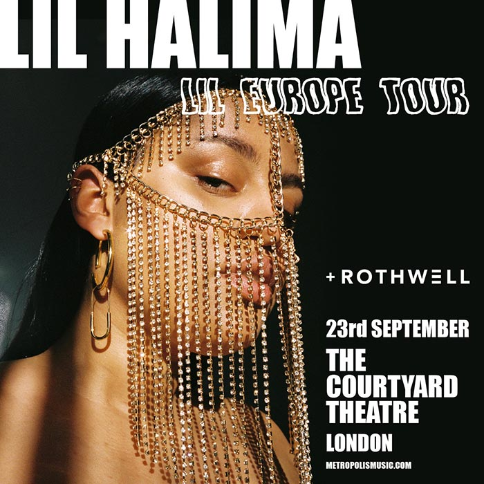 Lil Halima at The Courtyard Theatre on Mon 23rd September 2019 Flyer