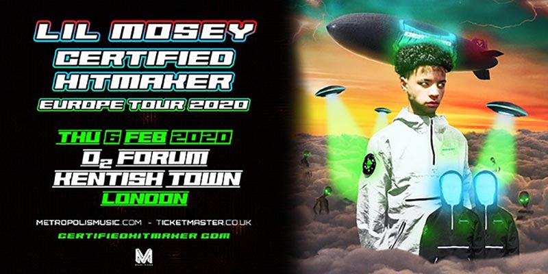 Lil Mosey at The Forum on Thu 6th February 2020 Flyer