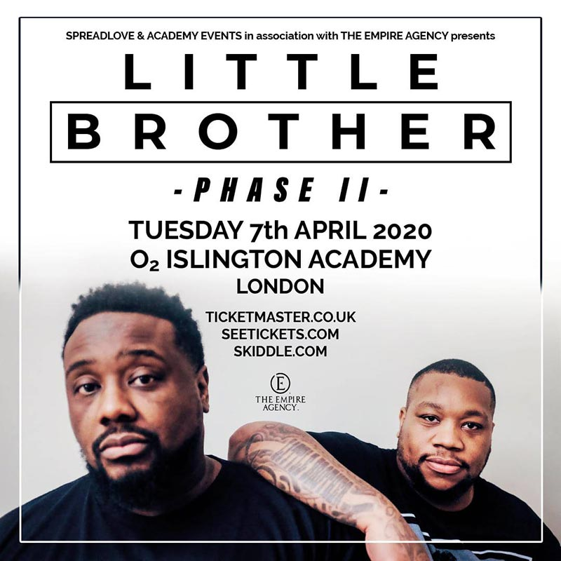 Little Brother at Islington Academy on Tue 7th April 2020 Flyer