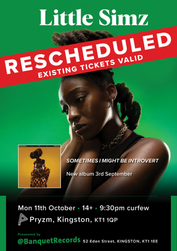 Little Simz at PRYZM Kingston on Mon 11th October 2021 Flyer
