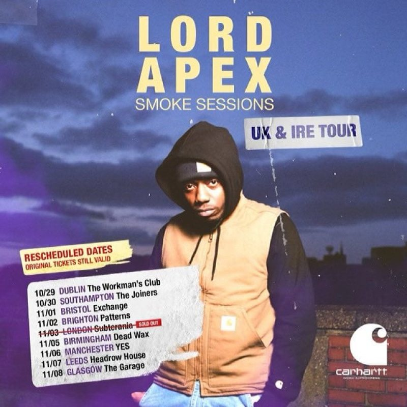 Lord Apex at Subterania on Wed 3rd November 2021 Flyer