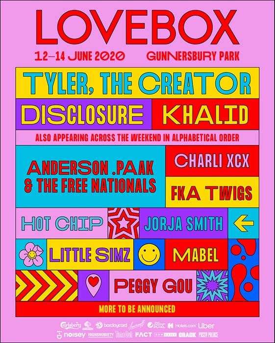 Lovebox Saturday at Gunnersbury Park on Sat 13th June 2020 Flyer