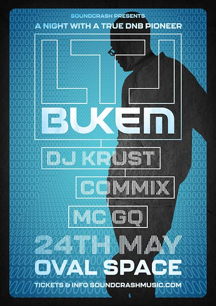 LTJ Bukem at Oval Space on Fri 24th May 2019 Flyer