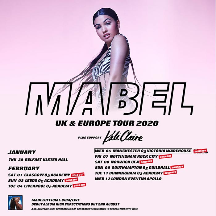 Mabel at Hammersmith Apollo on Wednesday 12th February 2020 Flyer